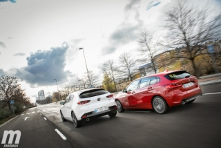 Fotos comparativa Mazda3 vs BMW Serie 1 Foto 7