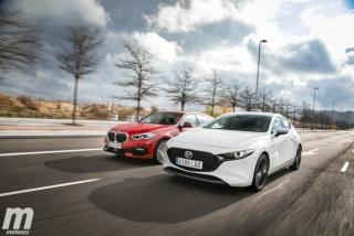 Fotos comparativa Mazda3 vs BMW Serie 1 Foto 8