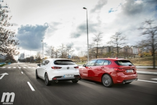 Fotos comparativa Mazda3 vs BMW Serie 1 Foto 11
