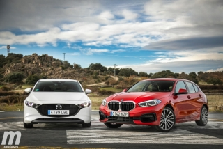 Fotos comparativa Mazda3 vs BMW Serie 1 Foto 19