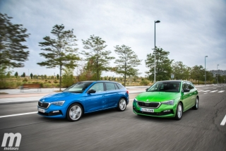 Fotos comparativa Skoda Scala TSI vs TDI