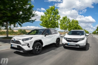Foto 1 - Fotos comparativa Toyota RAV4 vs Honda CR-V Hybrid