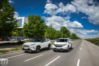 Fotos comparativa Toyota RAV4 vs Honda CR-V Hybrid - Miniatura 4