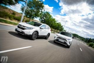 Fotos comparativa Toyota RAV4 vs Honda CR-V Hybrid - Miniatura 7