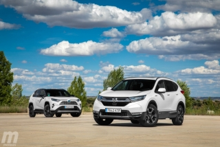 Fotos comparativa Toyota RAV4 vs Honda CR-V Hybrid - Miniatura 23