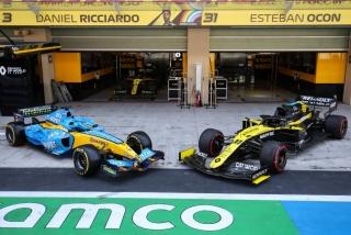 Las fotos de Fernando Alonso con el Renault R25 en Abu Dhabi Foto 32