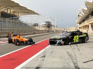 Fotos Fernando Alonso y Jimmie Johnson NASCAR vs F1 Foto 10