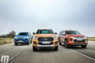 Fotos Toyota Hilux vs Ford Ranger vs Mitsubishi L200