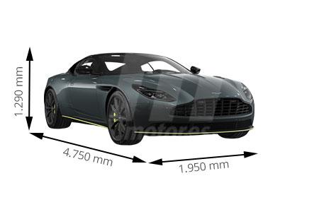 Medidas de coches Aston Martin