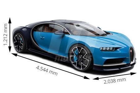 Medidas de coches Bugatti
