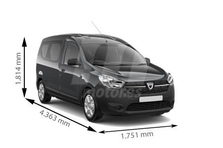 Medidas de coches Dacia