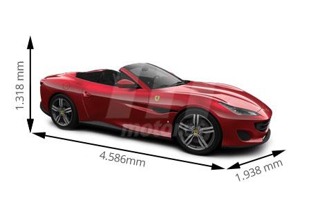 Medidas de coches Ferrari