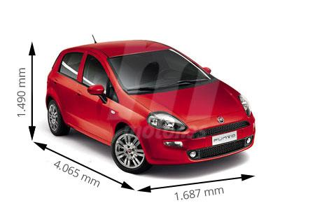 Medidas de coches fiat for Capacidad baul fiat punto