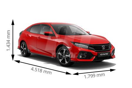 Medidas de coches Honda