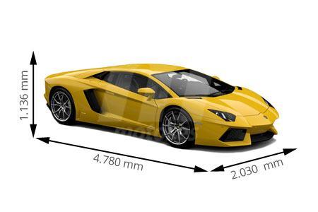 Medidas de coches Lamborghini