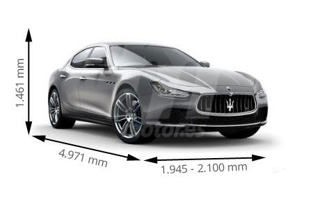 Medidas de coches Maserati