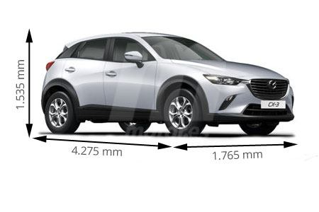 Medidas de coches Mazda