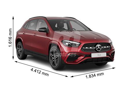 Medidas Mercedes Clase Gla Longitud Anchura Altura Y