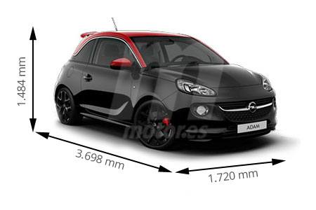 Medidas de coches Opel