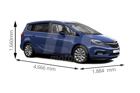 Medidas Opel Zafira Longitud Anchura Altura Y Maletero Motor Es