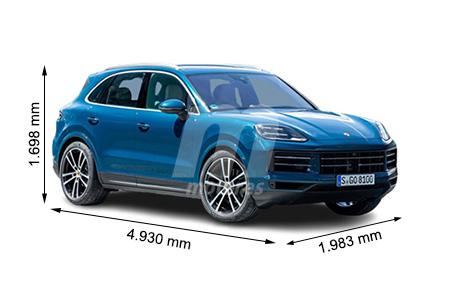 Medidas de coches Porsche