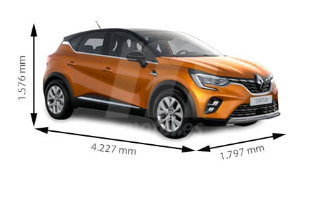 Medidas de coches Renault