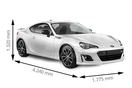 Medidas de coches Subaru