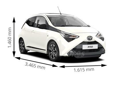 Medidas de coches Toyota