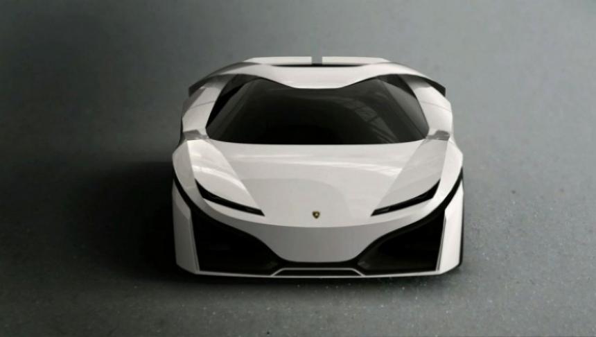 Así se vería un futuro Lamborghini híbrido.