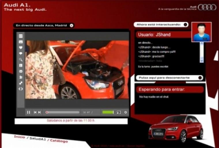 Audi A1 en Madrid y en directo vía Internet