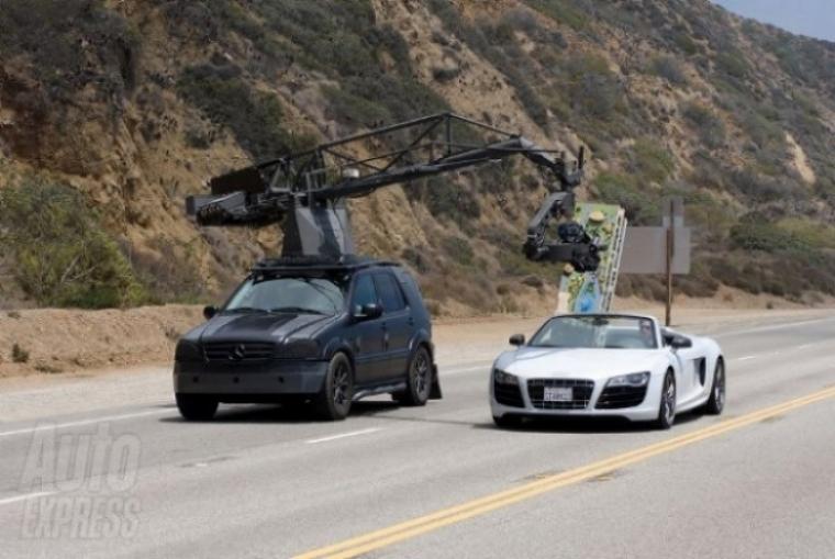 Audi R8 Spider avistado en la filmación de Iron Man II