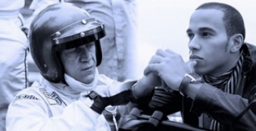 El duelo de Tag Heuer: Lewis Hamilton - Steve McQueen