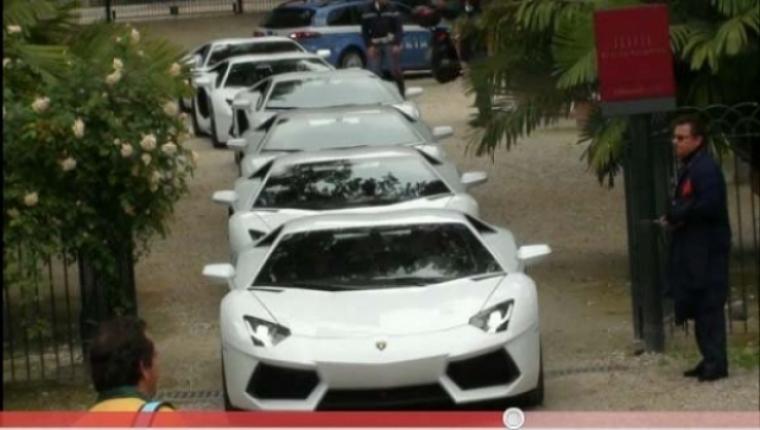 El Lamborghini Aventador invadió las calles de Roma
