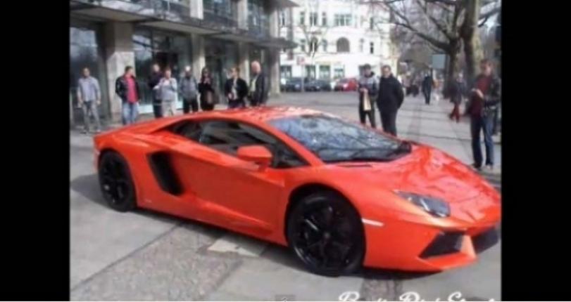 El Lamborghini Aventador se luce en las calles de Berlín