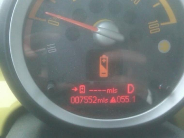 El Mini E muestra un pobre rendimiento en clima frío.