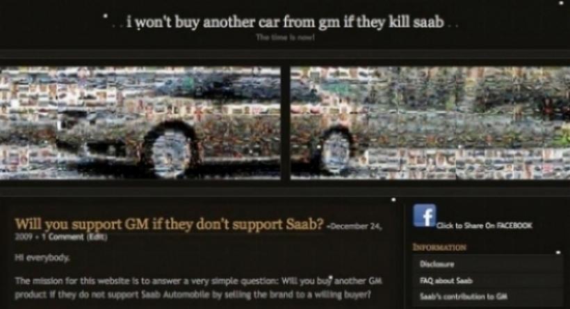 Fanáticos de Saab proponen no comprar más autos a G.M.
