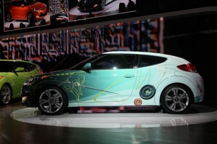 Hyundai Veloster, el coupé deportivo utilitario presentado en Detroit