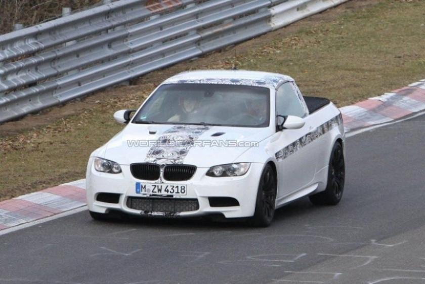 Increíble, un BMW M3 Pick Up rodando en Nürbrurgring