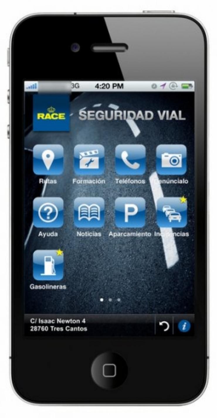 La primera aplicación sobre seguridad vial para smartphones