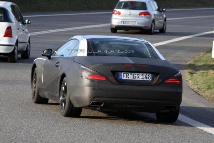 Mercedes Benz SL 2012 comienza sus pruebas en Nürbrurgring, imágenes espía