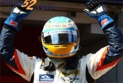 Alonso feliz con su victoria
