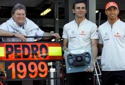 De la Rosa recibió un reconocimiento de parte de  Mclaren-Mercedes