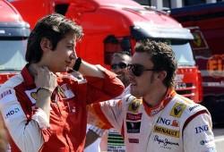 Fernando Alonso piensa en rojo