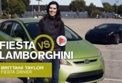Ford enfrenta al Fiesta con el Lamborghini Gallardo.
