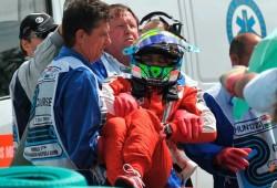 GP de Hungría: imágenes capturadas después del accidente de Massa
