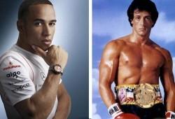 Hamilton encarnó el papel de Rocky Balboa en Mónaco