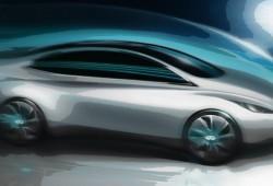Infiniti revela las primeras líneas de su primer modelo eléctrico.
