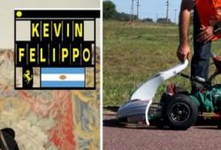 Kevin Felippo, el piloto de 10 años que ya es parte del equipo Ferrari