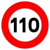 Láminas imantadas para cambiar la señalización de 120 km/h a 110 km/h