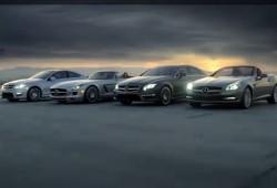 Mercedes revela parte del SLS Roadster y el Clase C Coupé en el Super Bowl